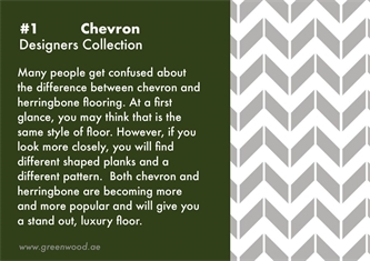 Chevron, How its different from Herringbone?